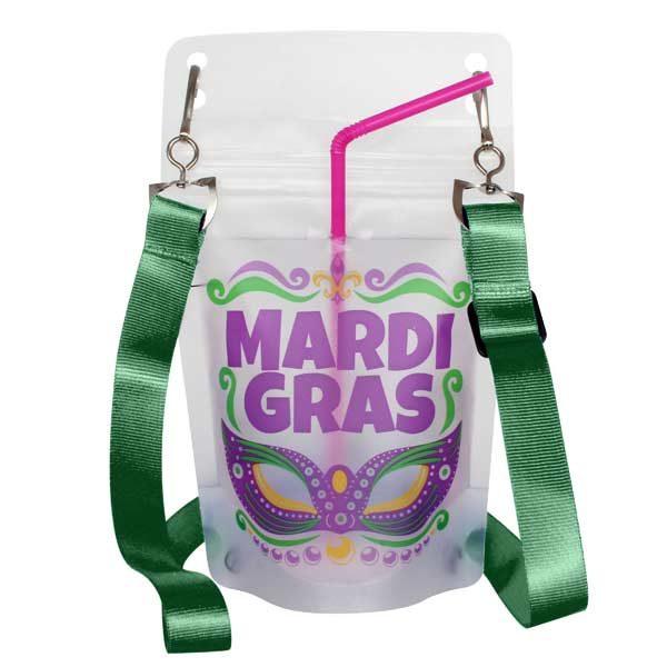 NeckSip Mardi Gras Lanyard Green