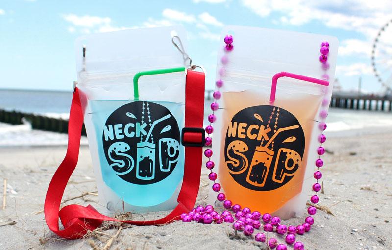 Necksip-beach-drink-pouches